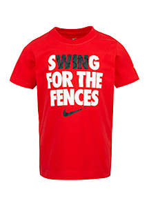 Nike® Toddler Boys Swing for the Fences Cotton Short Sleeve Tee