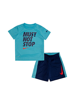 11d696af1 Nike® Toddler Boys Dri Fit Must Not Stop Short Sleeve Tee and Short Set ...