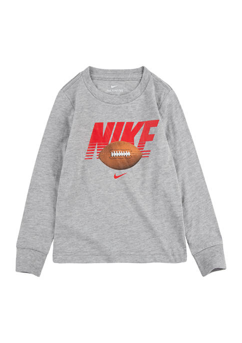 Nike® Toddler Boys Long Sleeve Football Graphic T-Shirt