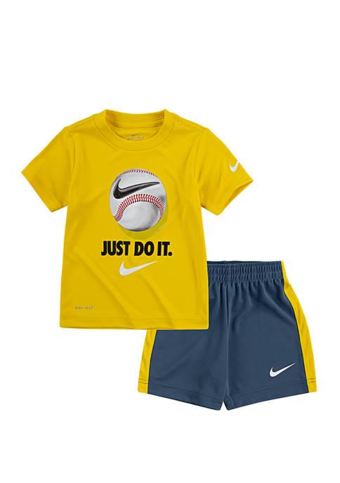 Nike® Toddler Boys JDI Baseball T-Shirt Shorts Set