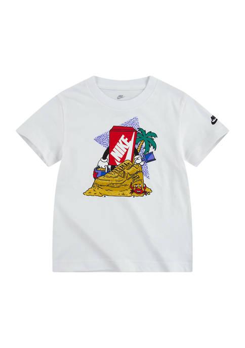 Nike® Toddler Boys Short Sleeve Sandcastle Graphic T-Shirt
