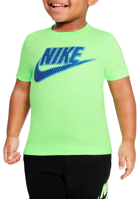 Nike® Toddler Boys Short Sleeve Faux Mesh Logo