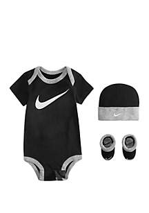 Baby Boys Bodysuit, Booties and Hat 3-Piece Gift Box Set