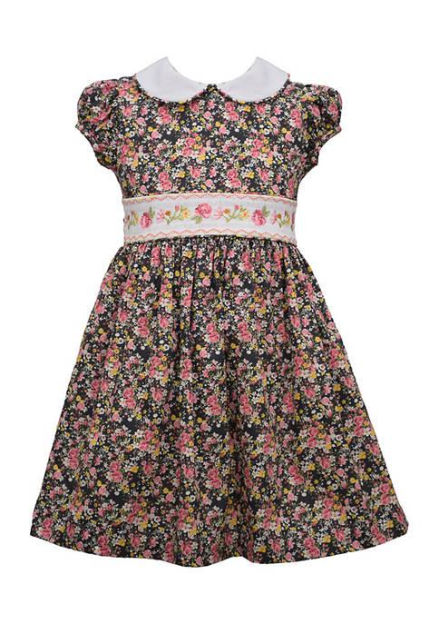 Bonnie Jean Girls 4-6x Smocked Dress