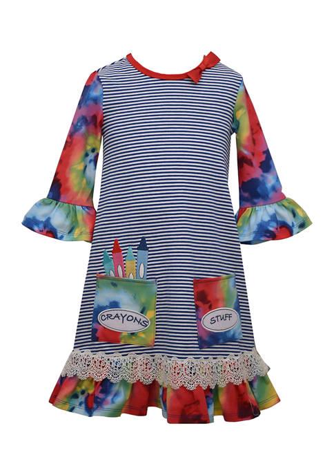 Bonnie Jean Girls 4-6x Bell Sleeve Tie Dye