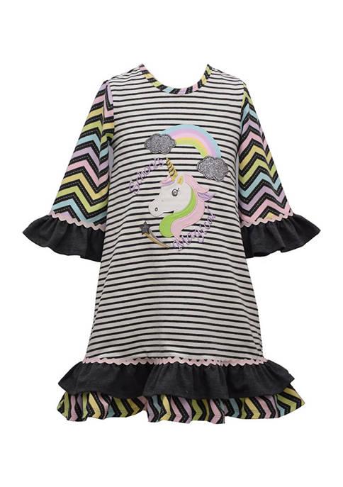 Bonnie Jean Girls 4-6x Magical Unicorn Dress