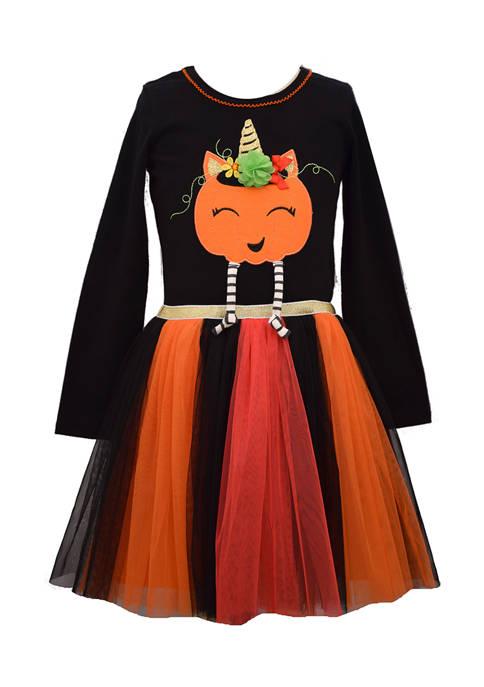 Bonnie Jean Girls 4-6x Long Sleeve Pumpkin Dress