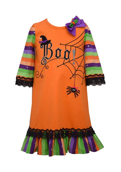 Bonnie Jean Girls 4-6x Long Sleeve Boo Dress