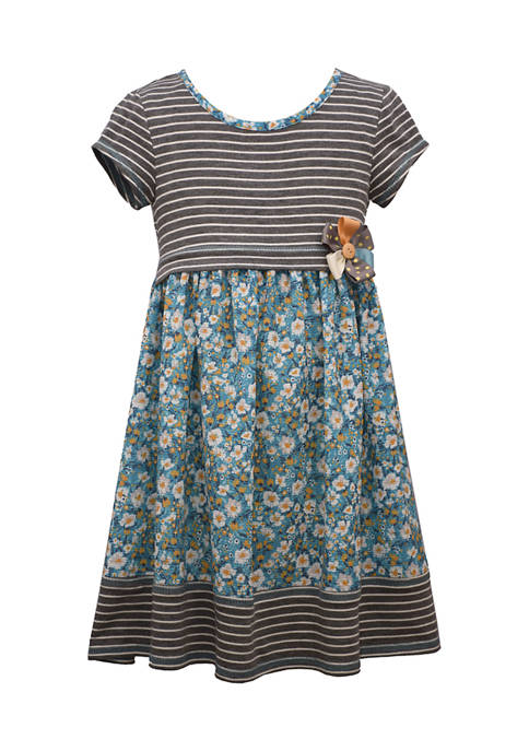 Bonnie Jean Girls 4-6x Mash Up Babydoll Dress