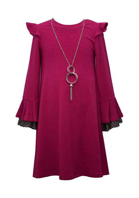 Bonnie Jean Girls 4-6x Long Sleeve Knit Dress