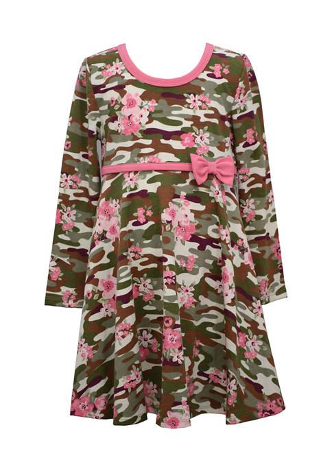 Girls 4-6x Knit Skater Printed Dress