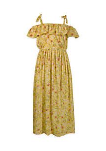 Girls 4-6x Maxi Off-the-Shoulder Dress