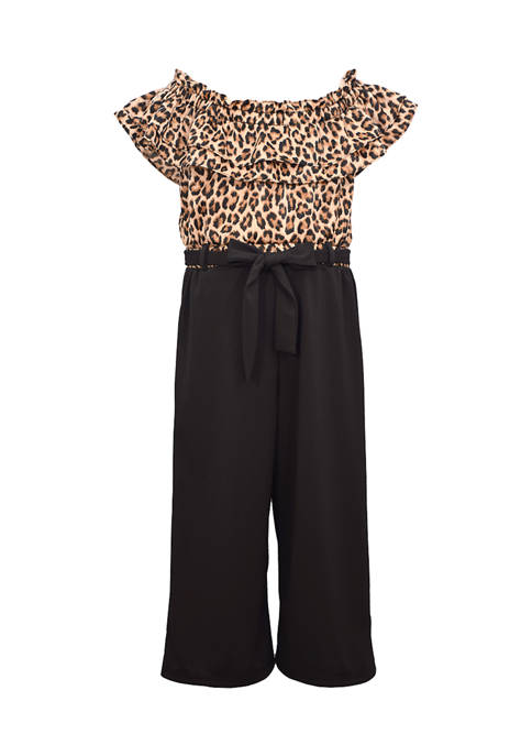 Bonnie Jean Girls 4-6x Short Sleeve Animal Print