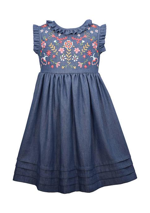 Bonnie Jean Girls 4-6x Sleeveless Washed Denim Dress