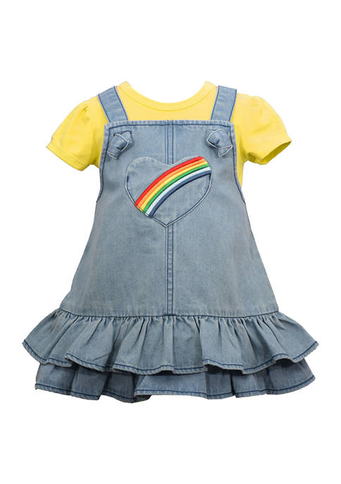 Bonnie Jean Girls 4-6x Rainbow Heart Dress with