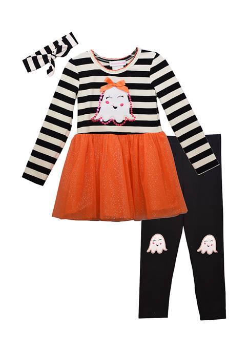 Bonnie Jean Girls 4-6x Halloween Ghost Set