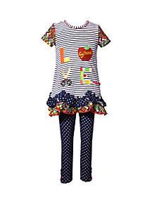 Bonnie Jean Toddler Girls Love School Set