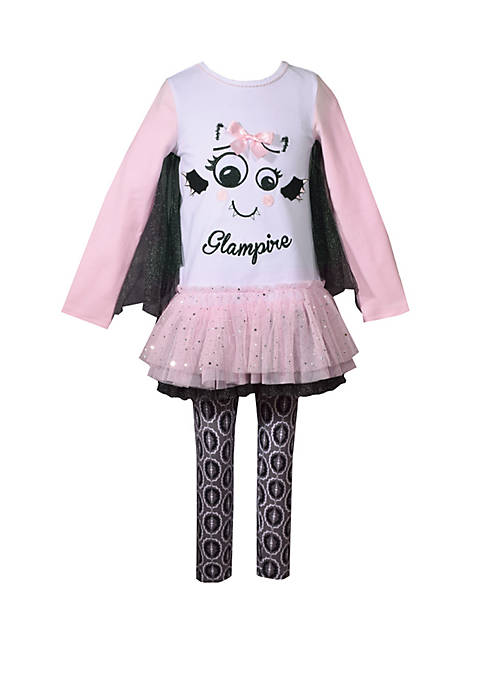 Bonnie Jean Girls 4-6x Glampire Legging Set