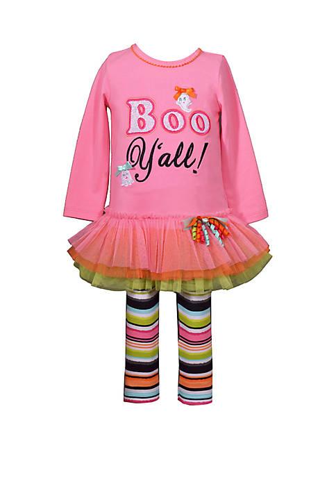 Bonnie Jean Girls 4-6x Boo Yall Legging Set