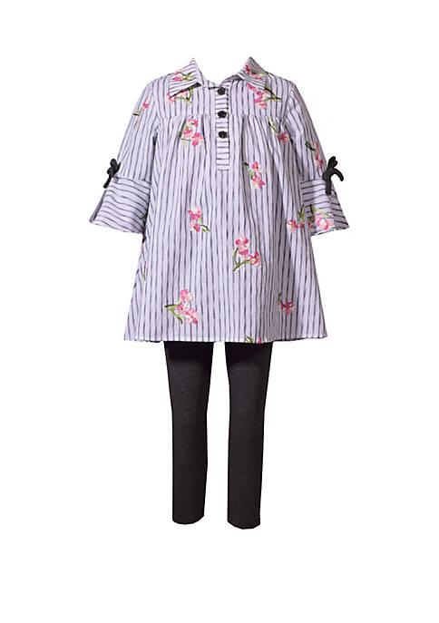 Bonnie Jean Girls 4-6x Bell Sleeve Stripe Tunic