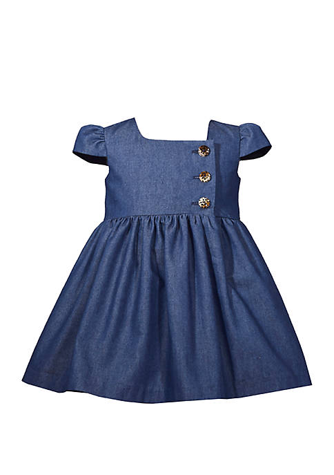 Bonnie Jean Toddler Girls Denim Dress with Buttons