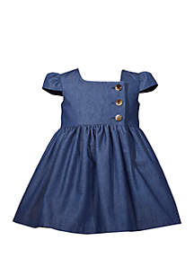 42db04963988 ... Bonnie Jean Toddler Girls Denim Dress with Buttons