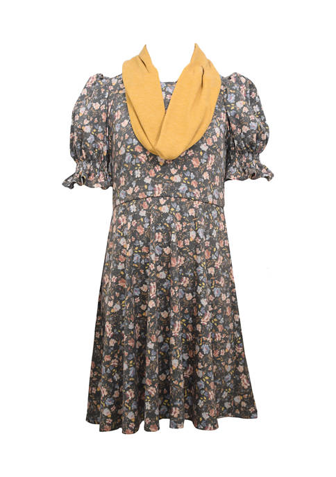 Bonnie Jean Girls 7-16 Dress and Scarf