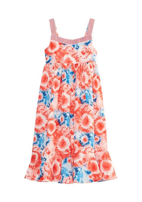 Bonnie Jean Girls 4-6x Sunflower Tie Dye Dress