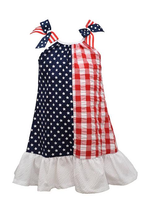 Bonnie Jean Girls 4-6x Americana Print Dress