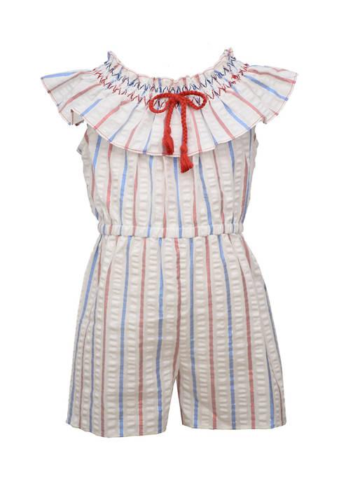 Bonnie Jean Toddler Girls American Stripe Romper
