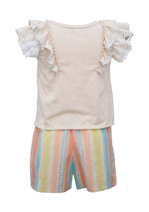Bonnie Jean Girls 4-6x Tie Front Top and