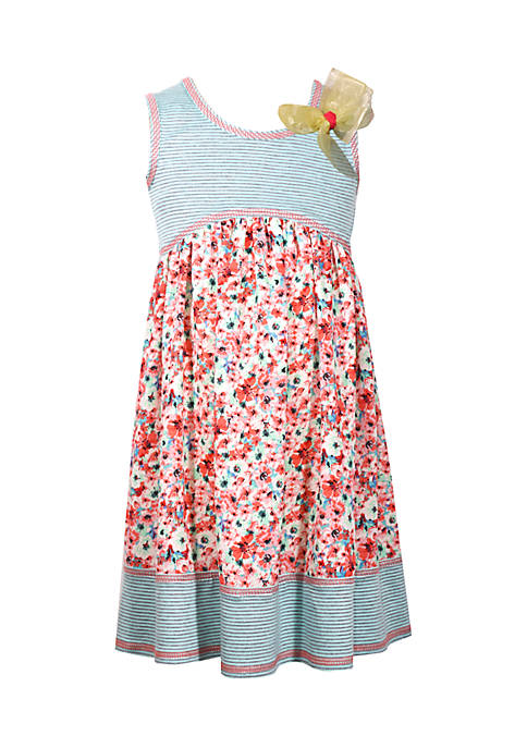 Bonnie Jean Girls 4-6x Mixed Print Promo Dress