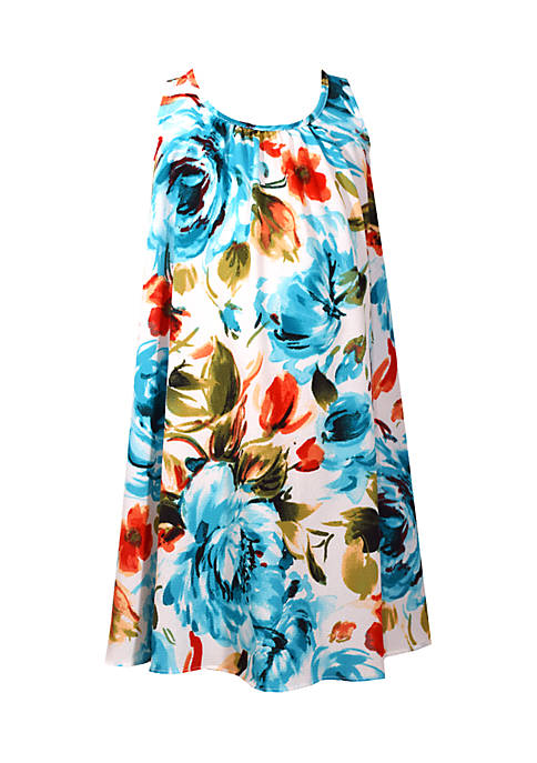 Bonnie Jean Girls 4-6x Large Floral Promo Dress