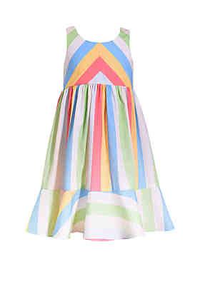 ef2719887b Bonnie Jean Girls 4-6 Poplin Multi Stripe Sundress ...