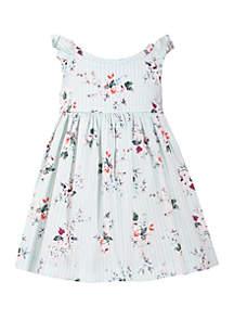 Bonnie Jean Girls 4-6x Floral Criss Cross Back Dress