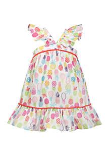 d70cf817aeb ... Dress Set · Bonnie Jean Girls 4-6 Pineapple Flounce Sundress