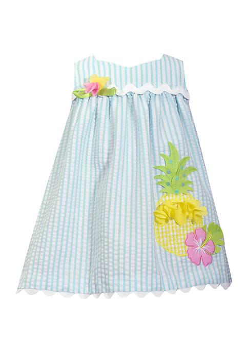 Girls 4-6x Pineapple Seersucker Dress