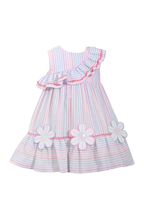 Bonnie Jean Girls 4-6x Multi Seersucker Dress with