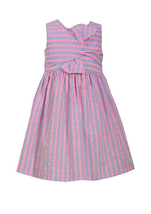 Bonnie Jean Girls 4-6x Neon Striped Twisty Tie