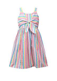 Bonnie Jean Girls 4-6x Multicolor Tie Front Dress