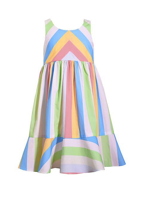 Bonnie Jean Girls 7-16 Clown Stripe Dress