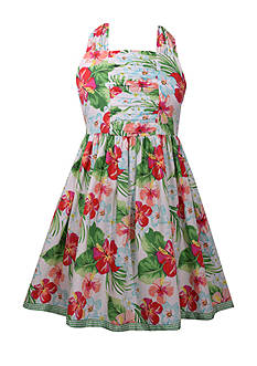 Bonnie Jean Floral Print Dress Girls 7-16 Plus