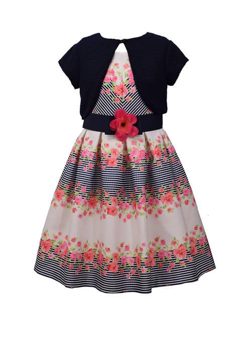 Bonnie Jean Girls 4-6x Cardigan and Floral Dress