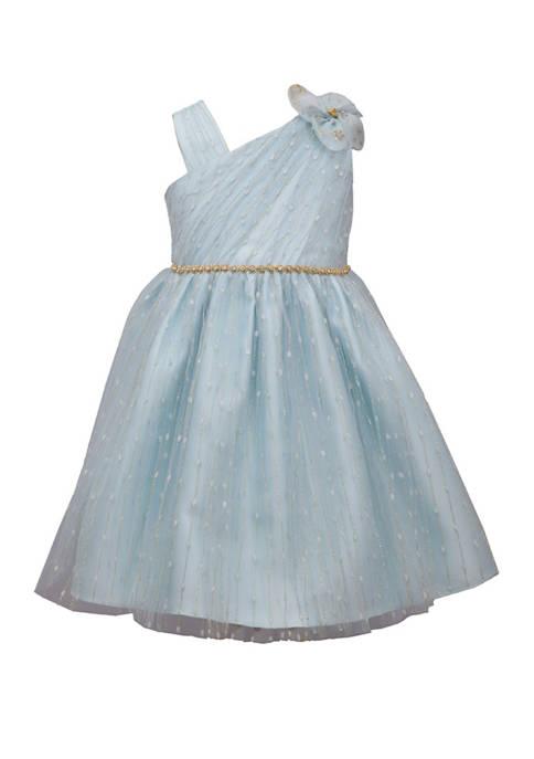 Bonnie Jean Girls 4-6x One Shoulder Party Dress