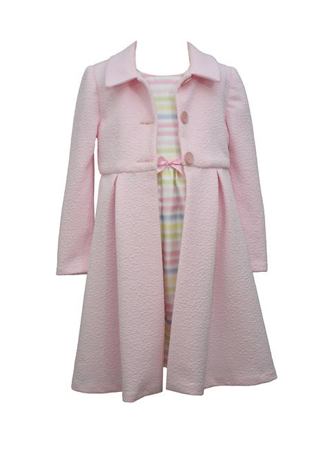 Bonnie Jean Girls 4-6x 2 Piece Dressy Coat