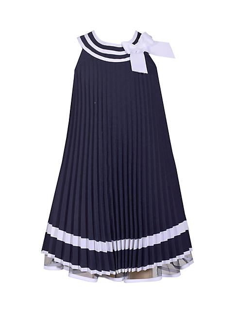 Bonnie Jean Girls 4-6x Nautical Pleated Dress