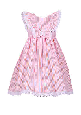 9213431aa0d Bonnie Jean Girls 4-6x Ruffle Shoulder Bow Seersucker Dress ...