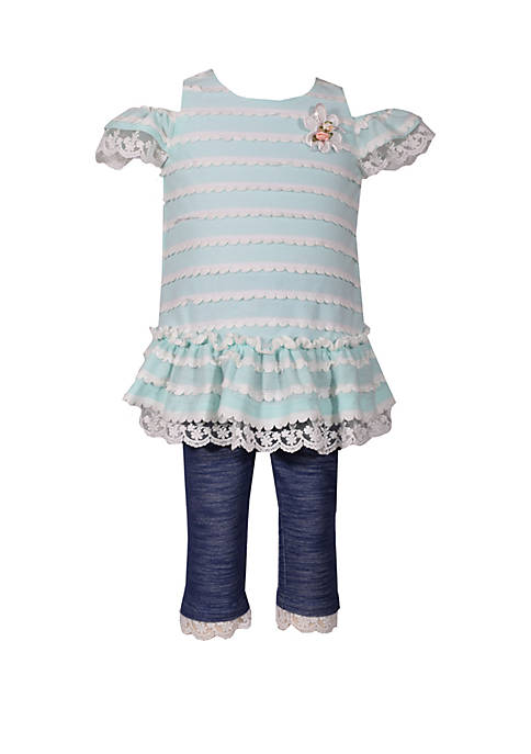 Bonnie Jean Girls 4-6x Cold Shoulder Novelty Top