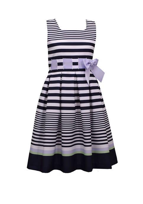 Bonnie Jean Girls 4-6x Sleeveless Bow Ribbon Dress