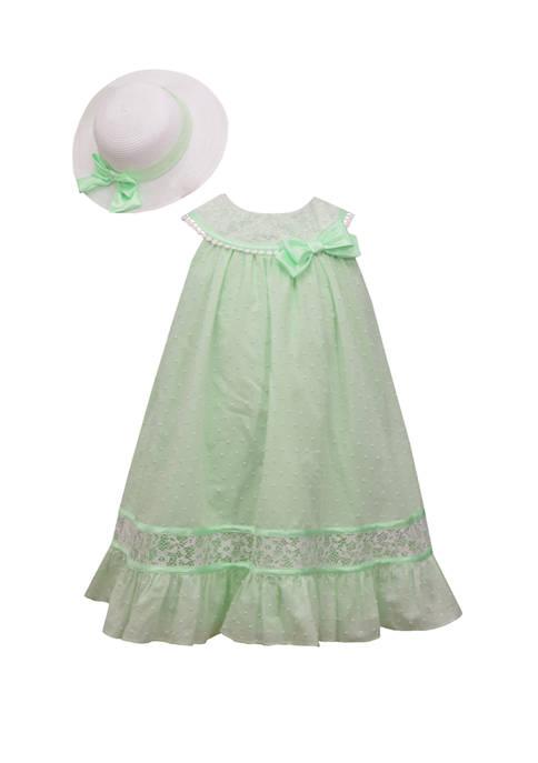 Bonnie Jean Girls 4-6x Clip Dot Hat Dress